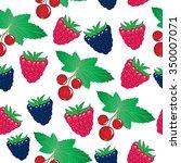 forest berries seamless pattern | Shutterstock .eps vector #350007071