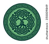 vector illustration of celtic... | Shutterstock .eps vector #350009849