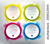 abstract vector banner set.... | Shutterstock .eps vector #350013545