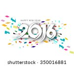 happy new year 2016  | Shutterstock .eps vector #350016881