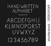 hand written alphabet. upper... | Shutterstock .eps vector #350019269