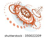 abstract background with... | Shutterstock .eps vector #350022209