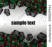 irregular polygons are divided... | Shutterstock .eps vector #350029961