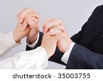 connected hands of two young... | Shutterstock . vector #35003755