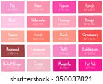 pink tone color shade... | Shutterstock .eps vector #350037821