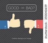 flat design for like hands ... | Shutterstock .eps vector #350040659