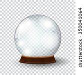 empty snow globe | Shutterstock .eps vector #350041064
