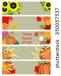 autumnal banners for... | Shutterstock . vector #350057537