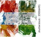 grunge texture set for video... | Shutterstock . vector #35006491