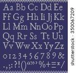 vector knitting latin letters ... | Shutterstock .eps vector #350067209