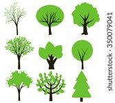 simple green and dark brown...   Shutterstock .eps vector #350079041