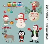 christmas and new year holiday... | Shutterstock .eps vector #350079155