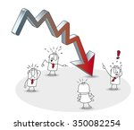 business crisis. the results of ... | Shutterstock .eps vector #350082254