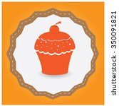 isolated label with a bakery... | Shutterstock .eps vector #350091821