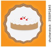 isolated label with a bakery... | Shutterstock .eps vector #350091845