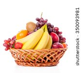 Fruits  in the basket. assorted ...