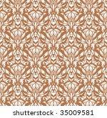 damask seamless vector... | Shutterstock .eps vector #35009581