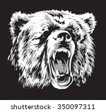 black and white engraved... | Shutterstock .eps vector #350097311