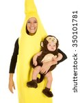 A Mom In Her Banana Costume...