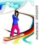 snowboarder 1 | Shutterstock . vector #35010259