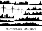 Set Of Various Vector Skylines...
