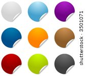 colorful blank round sticker... | Shutterstock .eps vector #3501071