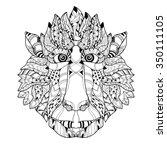 Zentangle  Monkey Head Doodle....