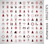 christmas icons and elements... | Shutterstock .eps vector #350127371