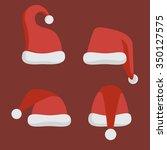 santa claus hats. vector... | Shutterstock .eps vector #350127575