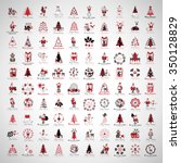 christmas icons and elements... | Shutterstock .eps vector #350128829