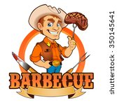 cowboy barbecue chef  | Shutterstock .eps vector #350145641