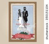 wedding invitation card...   Shutterstock .eps vector #350151104
