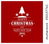 merry christmas card  stylized... | Shutterstock .eps vector #350157761
