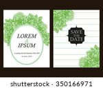 invitation with floral... | Shutterstock .eps vector #350166971