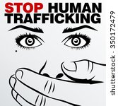 human trafficking vector... | Shutterstock .eps vector #350172479