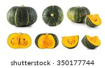 Collection Of Pumpkins Isolate...
