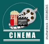 cinema  concept  with movie... | Shutterstock .eps vector #350180261