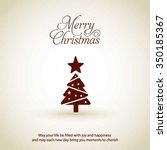 merry christmas card  stylized... | Shutterstock .eps vector #350185367