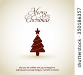 merry christmas card  stylized... | Shutterstock .eps vector #350186357