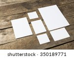blank stationery  mock up | Shutterstock . vector #350189771