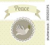 message of peace design  vector ... | Shutterstock .eps vector #350202191