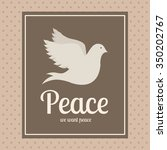 message of peace design  vector ... | Shutterstock .eps vector #350202767