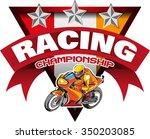 motor racing championship logo... | Shutterstock .eps vector #350203085