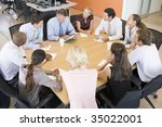 stock traders in a meeting | Shutterstock . vector #35022001