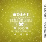 vintage christmas card with... | Shutterstock .eps vector #350222111