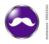 mustaches   vector icon  violet ...