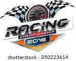 racing championship logo event | Shutterstock .eps vector #350223614