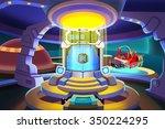 illustration  portal room.... | Shutterstock . vector #350224295