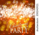 christmas glowing lights. merry ...   Shutterstock .eps vector #350243921
