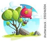 illustration of a hot air... | Shutterstock .eps vector #350246504